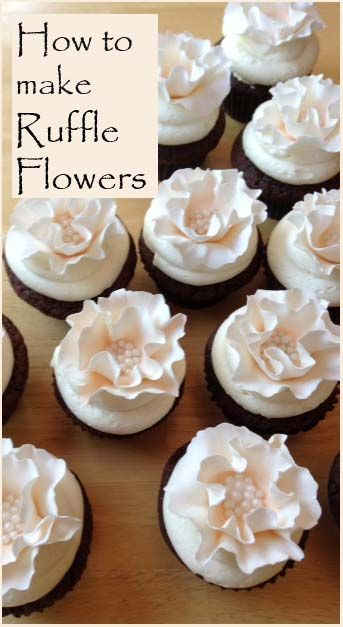 How to make Beautiful Ruffle Flower Cakes and Cupcakes from Peach Ruffle | Little Delights Cakes