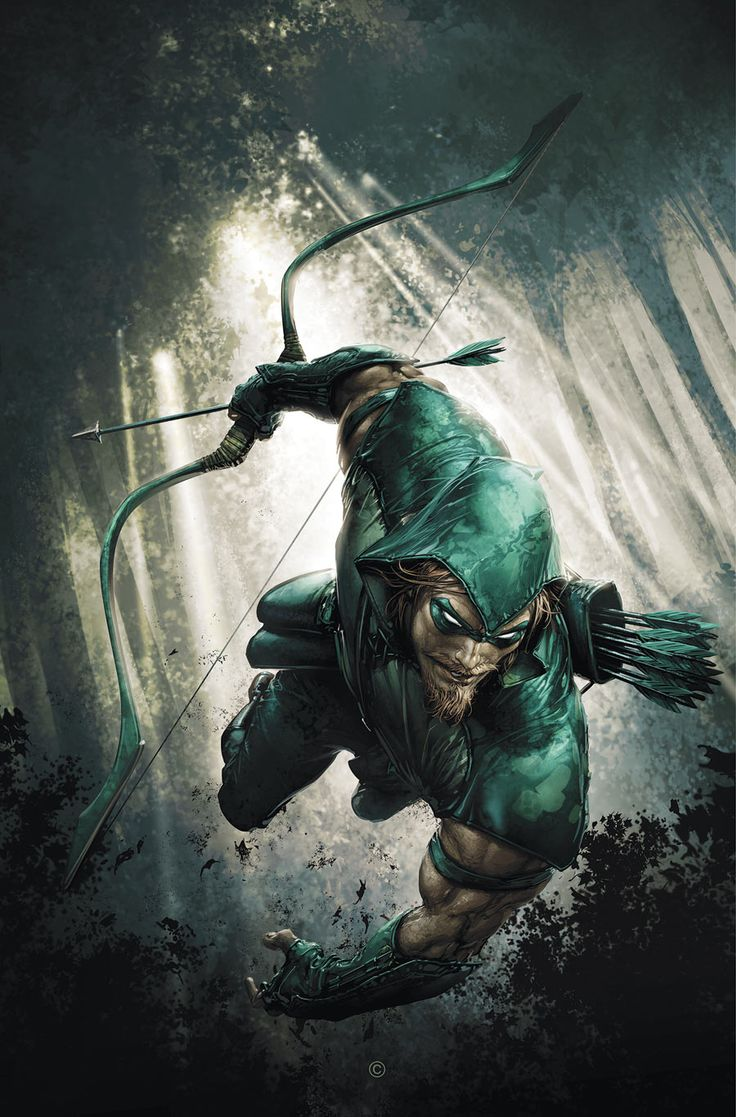 Clayton Crain, a great Green Arrow making him look truly bad ass.