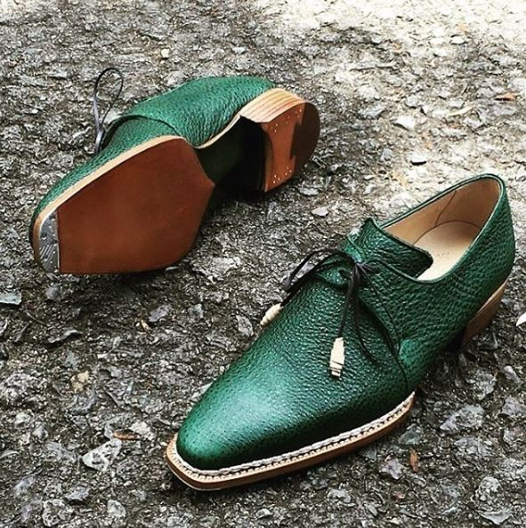 Handmade leather shoes for men