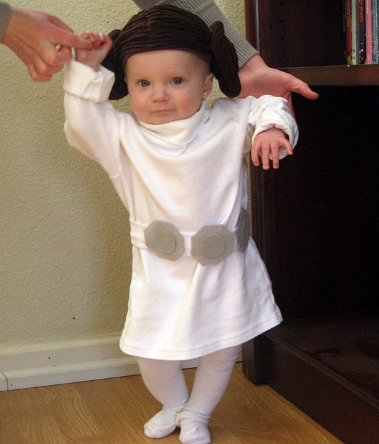 Sometime in her life, Miss H will wear this. Mark my words. Pricess Leia costume tutorial