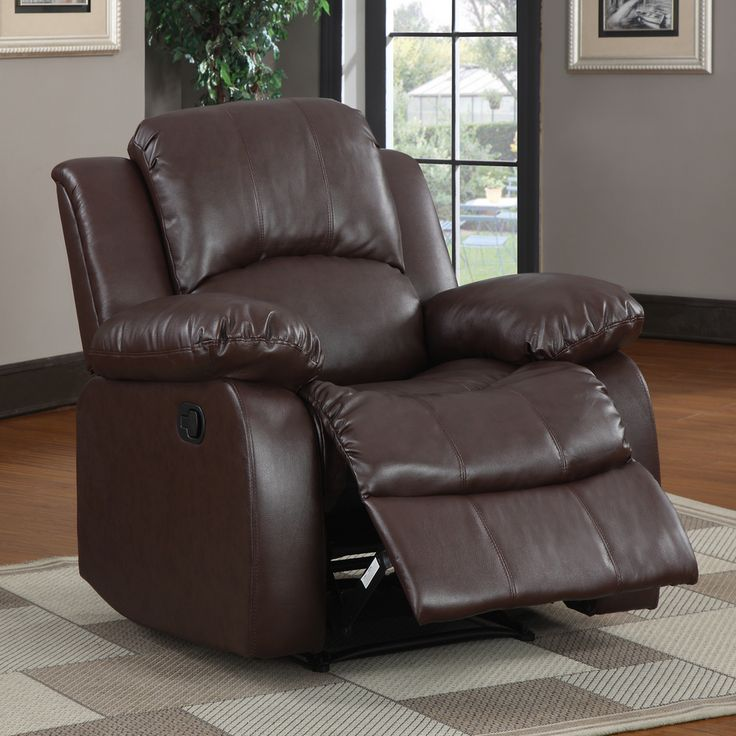 TRIBECCA HOME Coleford Brown Faux Leather Tufted Transitional Reclining Chair - Overstock™ Shopping - Big Discounts on Tribecca Home Recliners