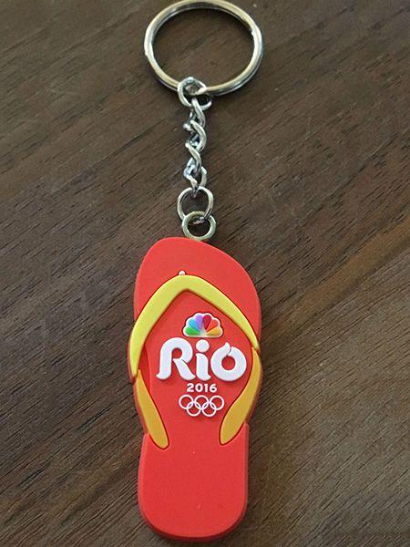 Rio 2016 Flip Flop Olympic Keychain