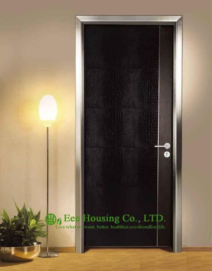 Aluminum Modern Door For Restaurant Use,Customized Ecological Interior Door For Sale