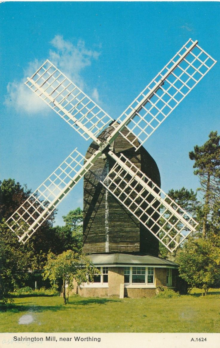 Salvington Mill near Worthing, Sussex - Postcard | eBay