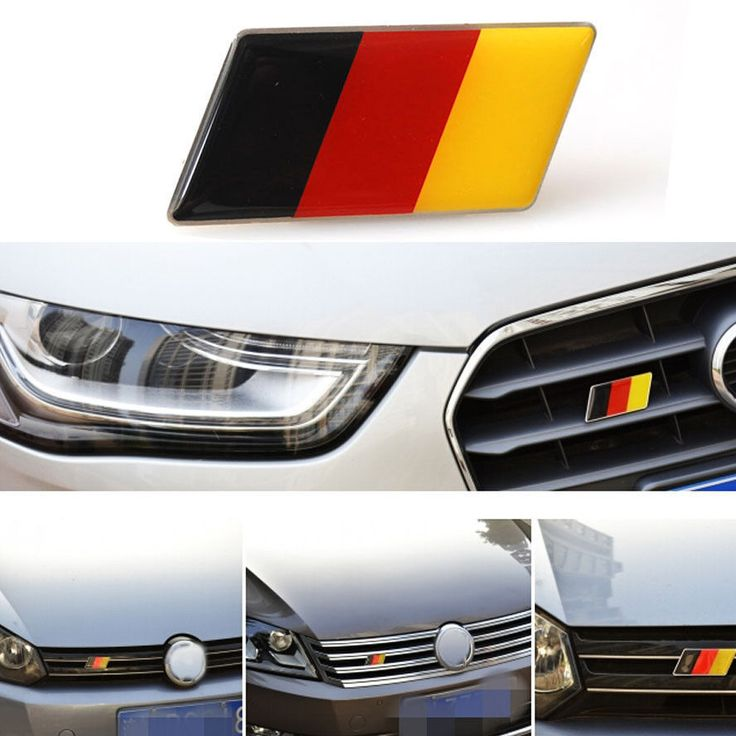 Алюминиевый Флаг Германии Передний Эмблема Значок Гриль Решетка для Golf Jetta A3 A4 A5 A6 Автомобиль Вводя в Моду Авто Аксессуары Автомобильные Наклейки Крышка