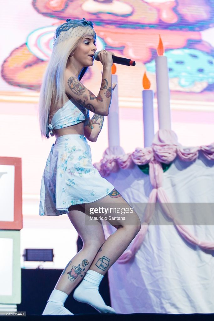 Melanie Martinez performs live on stage during day two of Lollapalooza Brazil at Autodromo de Interlagos on March 26, 2017 in Sao Paulo, Brazil.