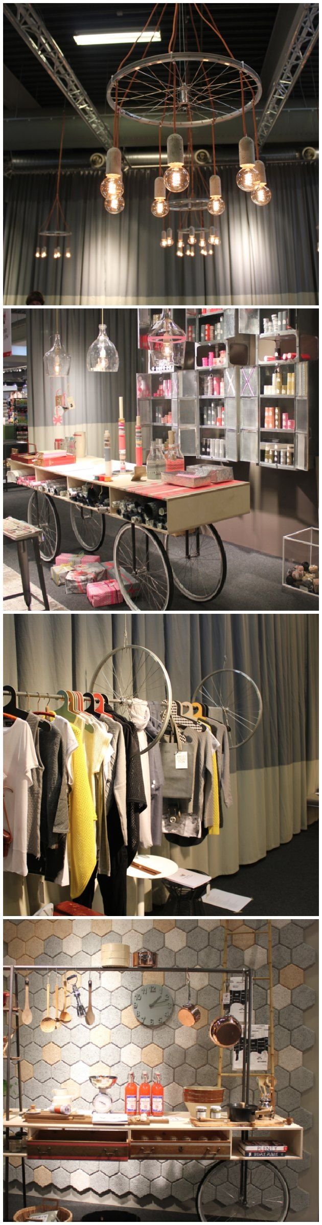 ideer med cykelhjul #lampe af cykelhjul
