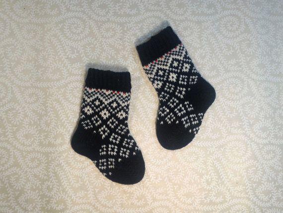 NEW Wool hand-made socks for children by LanaNere on Etsy