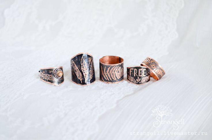 Черные кольца из меди. Black rings of copper.   Instagram: strangell.wire.art ~  Shop: www.strangell.livemaster.ru ~  Eatsy Shop: www.strangell.etsy.com ~  VK: vk.com/strangell