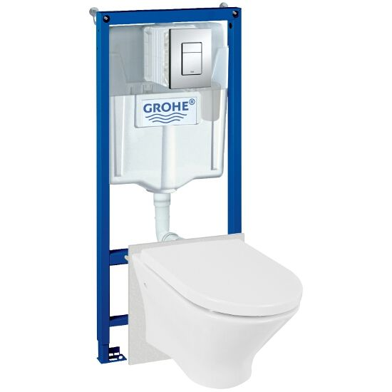 Stelaż do WC RAPID SL 5w1 Grohe z miską NEXO Roca i deską wolnoopadającą