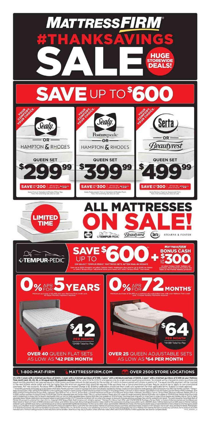 Mattress Firm Weekly Ad November 14 - 20, 2016 - http://www