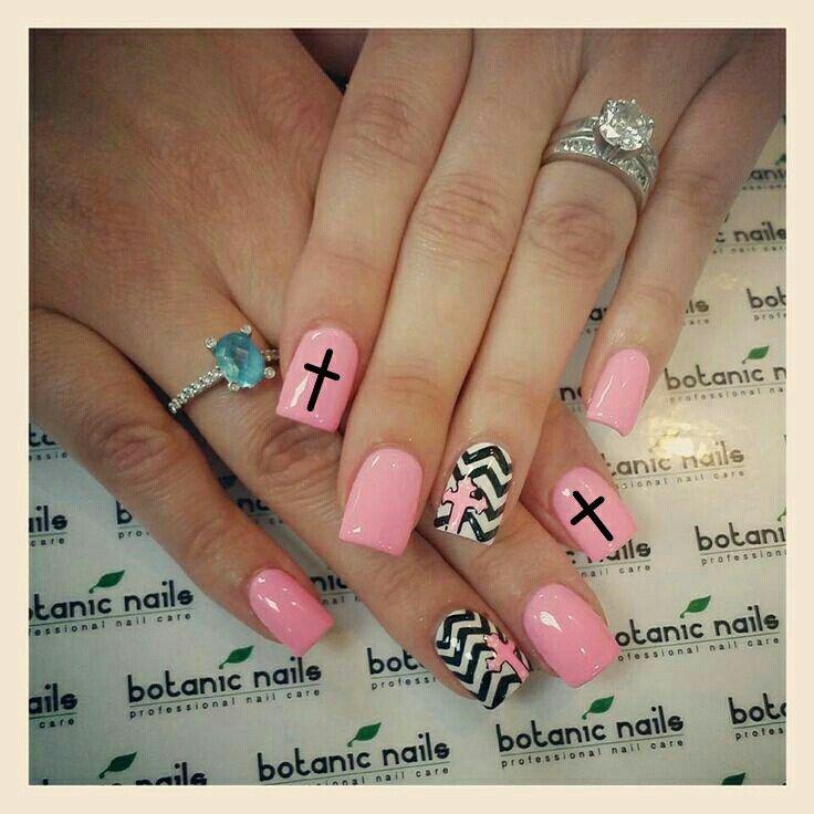 Best 25 cross nail designs ideas on pinterest diy nails black chevron cross nail prinsesfo Images