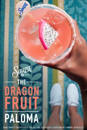 All it takes is one ingredient to revamp your favorite cocktails.   Paloma:  1 part Sauza® Signature Blue Silver Tequila  3 parts grapefruit soda  1⁄2 part lime juice  Dragon fruit slice to garnish   Directions: Rim the glass using a lime then salt. Add tequila into tall glass with ice. Fill remainder of the glass with grapefruit soda. Add lime juice and garnish.