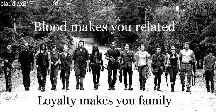 the walking dead family <3