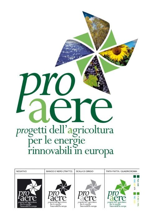 Grafica coordinata e materiali promozionali per il progetto europeo Pro Aere – Progetti dell'agricoltura per le energie rinnovabili in Europa, che ha come capofila Cipa-at Toscana, l'agenzia formativa della Confederazione Italiana Agricoltori Toscana.