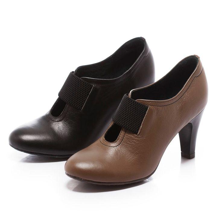 $2140-Fair Lady 極簡主義織帶高跟踝靴 黑 - Yahoo!奇摩購物中心(黑缺22)