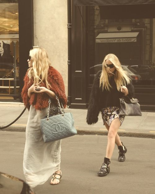 The Olsens know how to do grunge in style!