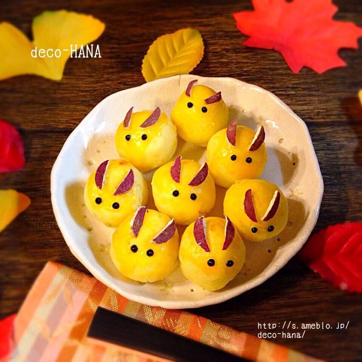 さとみ  satomi decofood's dish photo うさぎの月見団子風簡単スイートポテト | http://snapdish.co #SnapDish #レシピ #簡単料理 #おやつ #お月見 #和菓子