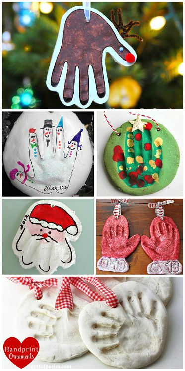 Adorable Homemade Salt Dough Handprint Ornaments #Christmas Gift Idea from Kids #crafts | CraftyMorning.com