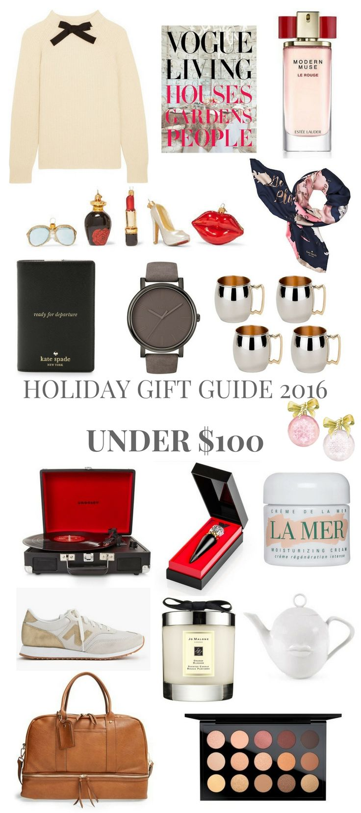 HOLIDAY GIFT GUIDE 2016 UNDER $100 // Shoegal Out In The World