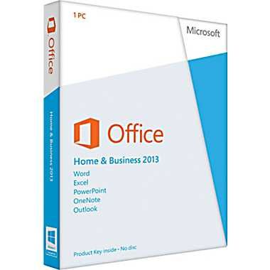 Microsoft Office 2013 Home & Business 32/64-bit - 1 Machine - $249.99 The first thing you'll see when you open Microsoft Office is a clean, new look. But the features you know and use are still there-along with some new ones that are huge time savers. The new Office also works with smartphones, tablets, and in the cloud, even on PCs that don't have Office installed. So now you can always get to your important files, no matter where you are or what you're using. Product Key only. No disc.