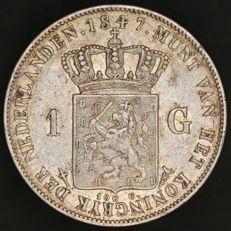 Nederland - 1 gulden 1847 Willem II - zilver