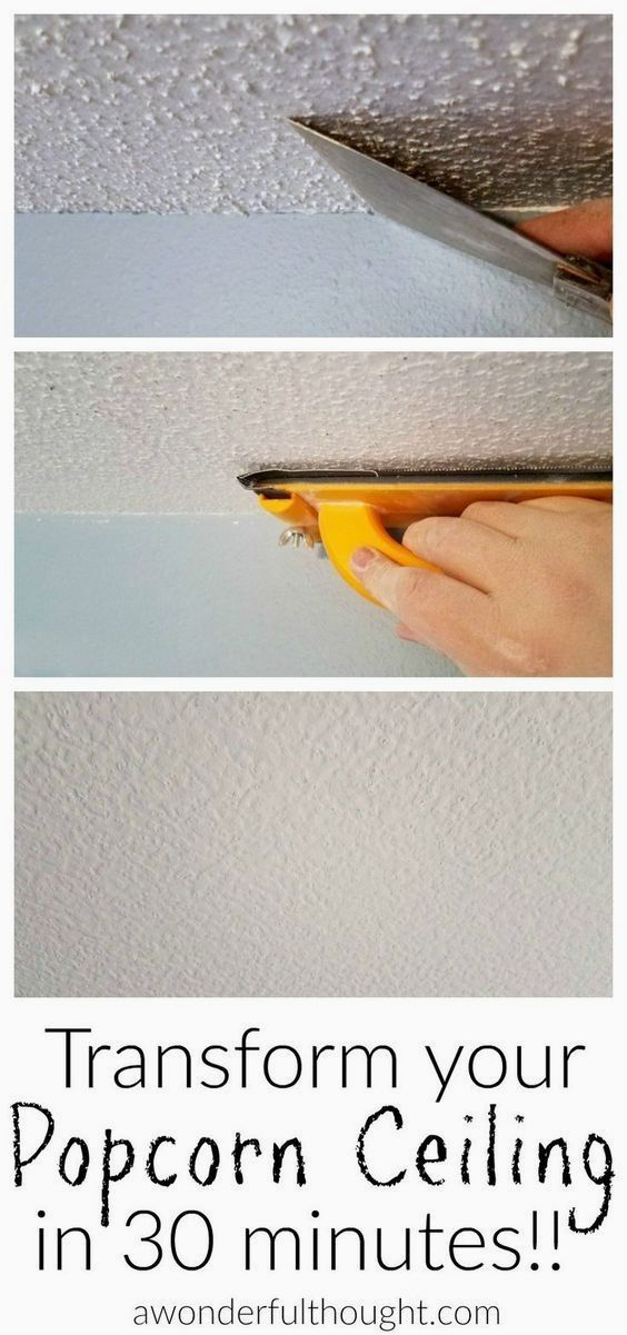 2 Ways to Remove Popcorn Ceilings