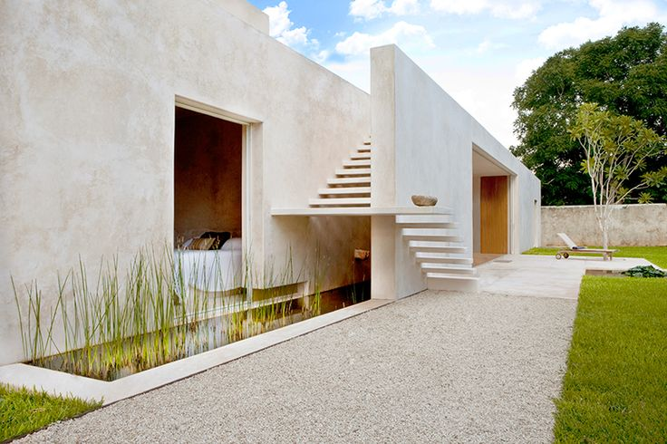 Mexican practice Reyes Rios + Larrain Studio have designed this award winning project as an individual guest house to an hacienda situated not far away, in