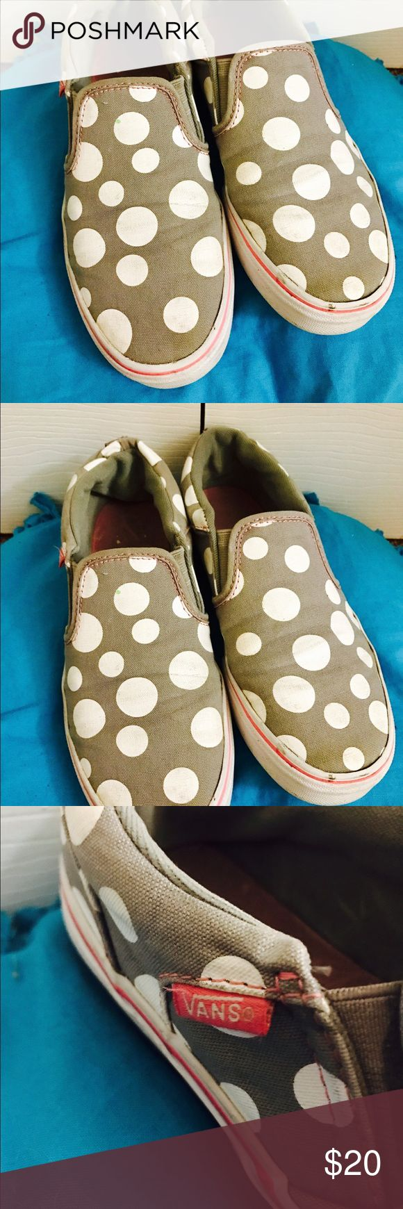Grey polkadoted vans Grey polkadoted vans for kids! Supe cute super affordable, negotiable price! Vans Shoes