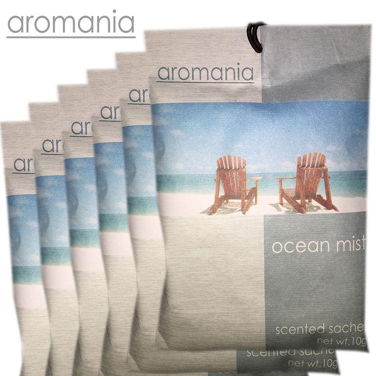 6 Pz/lotto Aromania Fresco Ocean Mist Bustina Profumata Fragranza Bustina Cassetto Sacchetto Per La Camera Da Letto Auto Sapore Fragranza Indiano