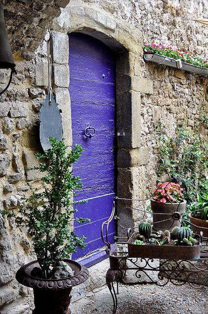 Isle-sur-la-Sorgue, Francja. Piękne drzwi są obietnicą jeszcze piękniejszego wnętrza.