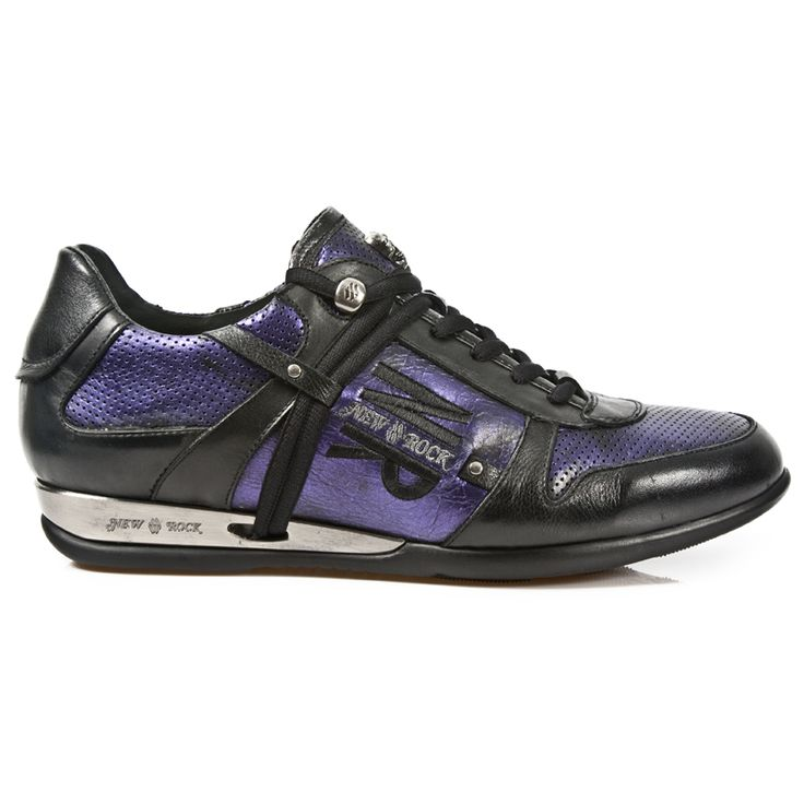 Black & Electric Purple Leather Hybrid Shoes! Lacing up the front, Metal on the heels. Small Skull on top of Shoe. Available in all Unisex Sizes. NOW ONLY $199.99 w Shipping Included!  http://www.newrockbootsusa.com/Black-Electric-Purple-Leather-Hybrid-Shoes_p_2439.html