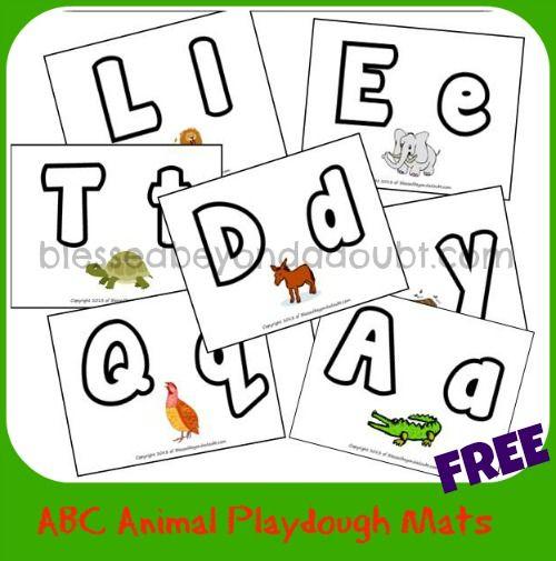 Free Abc Animal Playdough Mats Animal Free And Play Dough