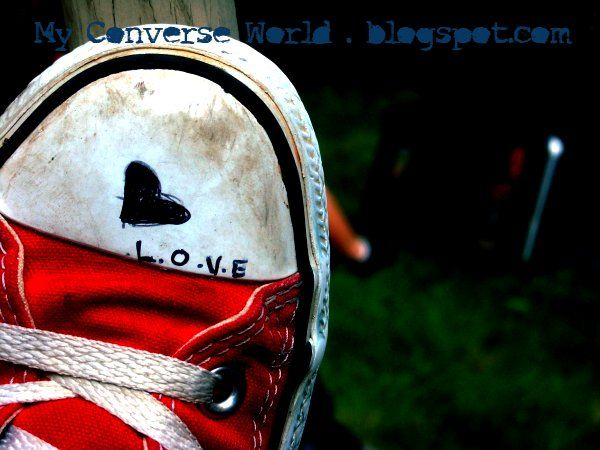 I need help writing a descriptive essay on my left converse shoe. Can you please help me?