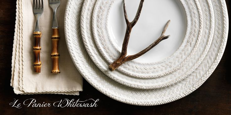 Introducing Le Panier Dinnerware! Often found in equestrian and nautical traditions, these intricate hand-knotted braids weave themselves around harmonious shapes, resembling a basket weave that has weathered to perfect imperfection.