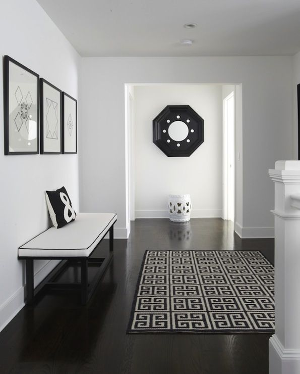 Black and white, for mudroom