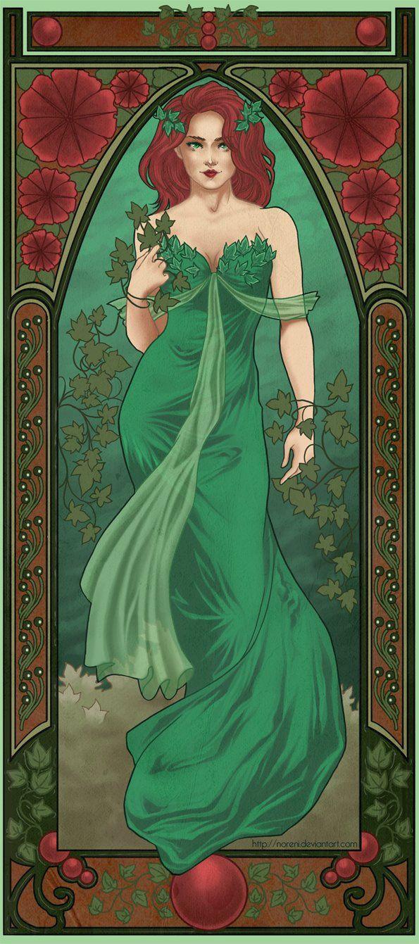 Mucha Poison Ivy by *laurencskinner on deviantART