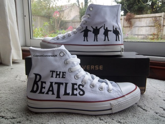 Brand new hand painted custom converse The by CustomConverseUK: All Star, Music, Beatles Converse, Shoes, The Beatles, Fashion, Thebeatles, Style, Things