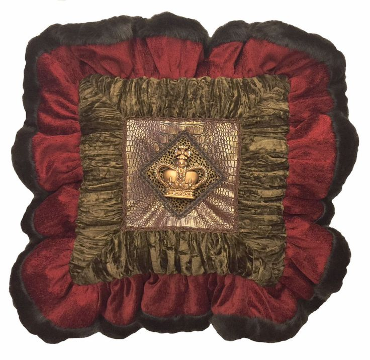 this ruffled decorative accent pillow combines chocolate velvet red chenille mink gorgeous finished it accented throw pillows for bedroom cheap couch