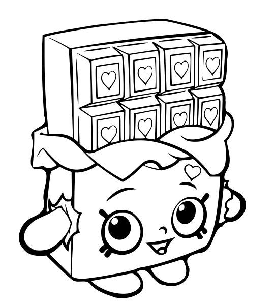 shopkins coloring pages cartoon - Free Cartoon Coloring Pages To Print
