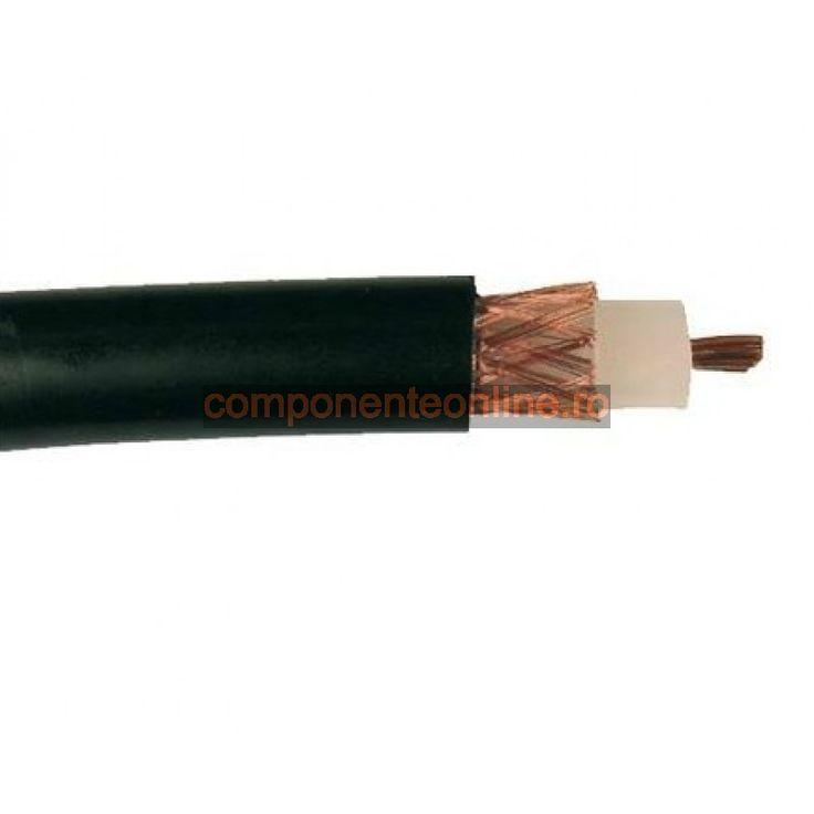 Cablu coaxial, H1000, 2,4GHz, 50 Ohm, negru - 402274