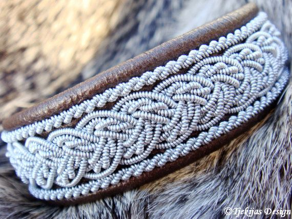 Sami Swedish Lapland Bracelet - Design Grane in Bronze Lambskin.