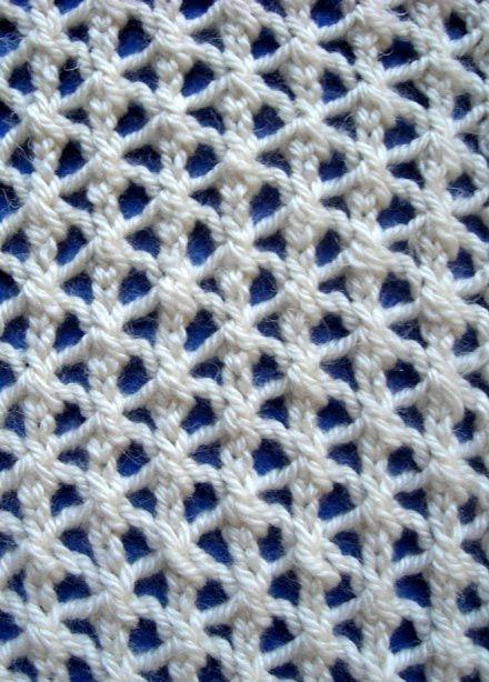 Estrella malla Costilla tejer puntada