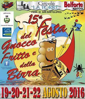 Festa del gnocco fritto e della birra 19-20-21-22 Agosto Belforte (MN)