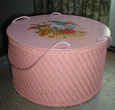 Love this; a good friend gave me her grandmother's Princess sewing basket like this; only in yellow.