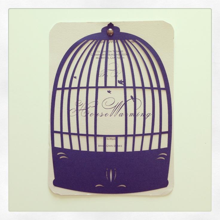Laser cut   Bird Cage   Housewarming Invitation