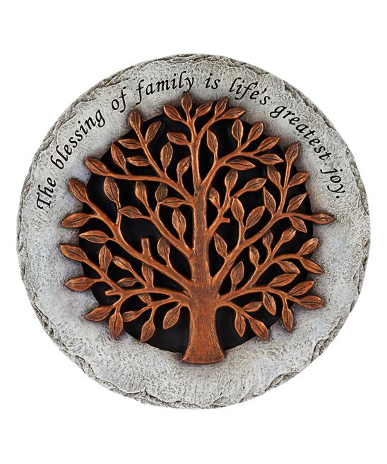 Valerie Parr Hill Family Inspirational Stepping Stone