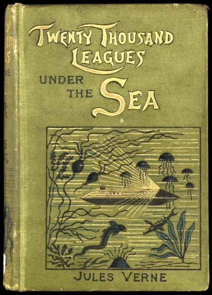 Book cover for Twenty Thousand Leagues Under the Sea by Jules Verne. Repro ID: F5715-001. ©National Maritime Museum, Greenwich, London Repro ID F5715-001 © National Maritime Museum, Greenwich, London