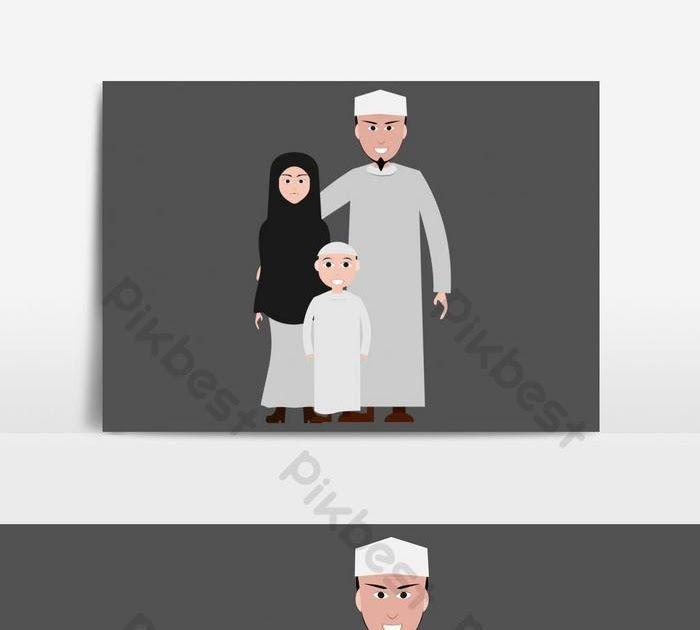 31 Gambar Kartun Islami Anak Gambar Kartun Keluarga Muslim Pakaian Islami Elemen Grafis Download Muslim Australia Produksi Kar Gambar Kartun Kartun Gambar