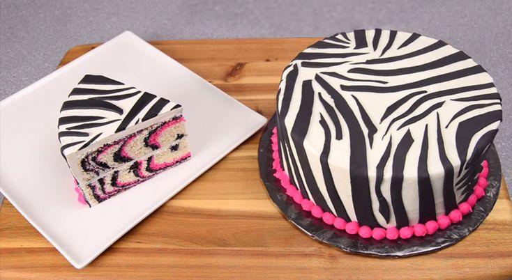 NapadyNavody.sk   Ako si vyrobiť ružovo čiernu zebra tortu